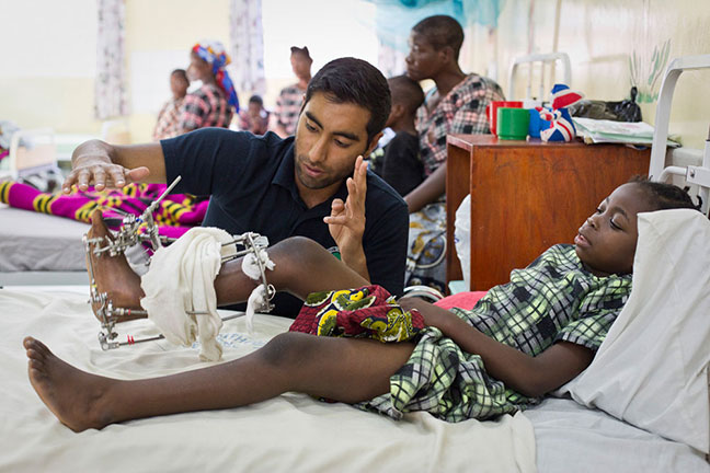 Kamal, a patient at the Beit CURE International hospital in Malawi © CURE International UK